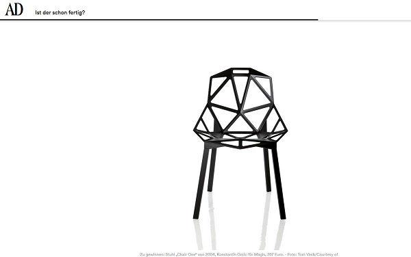 AD Magazin Gewinnspiel Chair One Designerstuhl 2017