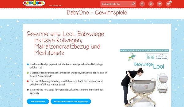 Babyone Gewinnspiel lool Babywiege 2017