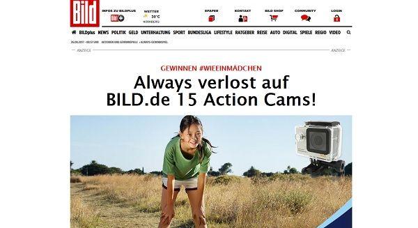 Bild.de Gewinnspiel Always Action Cams