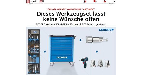 Bild.de Gewinnspiel Gedore Werkzeugwagen 2017