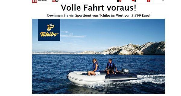 Bild.de Gewinnspiel Tchibo Sportboot 2017