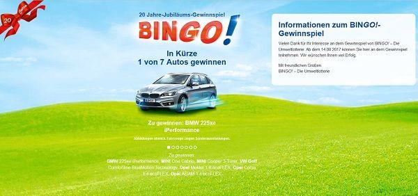 Bingo Umweltlotterie Telefonnummer