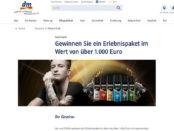 DM Gewinnspiel Puma 1.000 Euro Erlebnispaket 2017