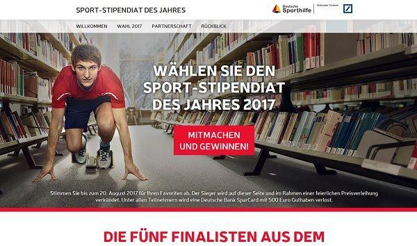 Deutsche Sporthilfe Gewinnspiel 500 Euro gewinnen 2017