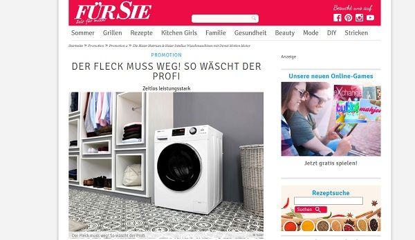 Für Sie Gewinnspiel Haier Waschmaschine 2017