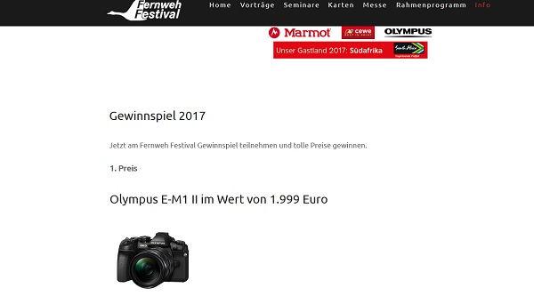 Fernweh Festival Gewinnspiel Olympus E-M1