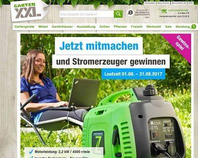 GartenXXL Gewinnspiel Stromerzeuger 2017