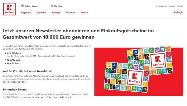 Kaufland Gewinnspiel 6.000 Euro Einkaufsgutschein gewinnen