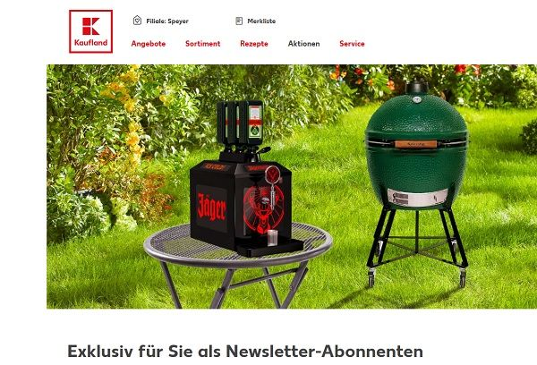 kaufland gewinnspiele j germeister tap machine und big green egg grill. Black Bedroom Furniture Sets. Home Design Ideas