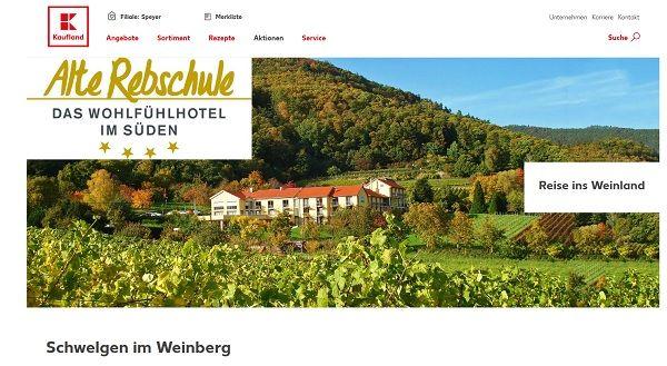Kaufland Gewinnspiel Weinreise 2017