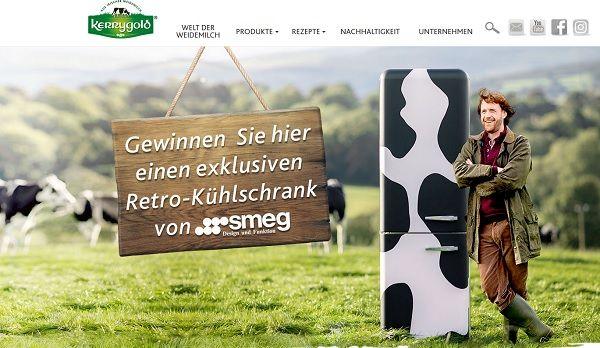 Smeg Kühlschrank Kuh : Kerrygold gewinnspiel smeg kühlschrank im kuhdesign