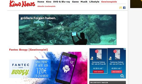 Kino News Gewinnspiel Fantec Boogy Smartphone 2017