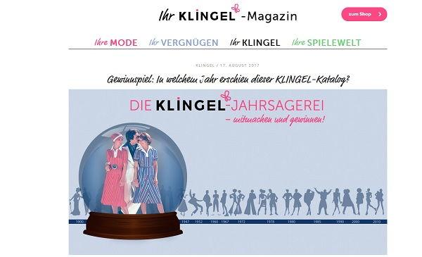 Klingel Gewinnspiel Jahrsagerei 2017