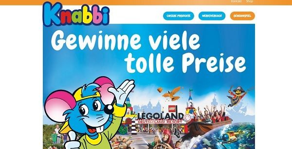 Knabbi Gewinnspiel Esspapier Legoland Reise 2017