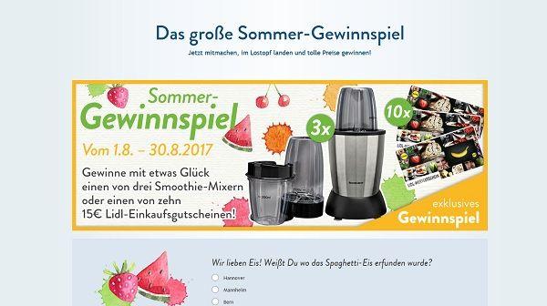 Lidl Kochen Sommer Gewinnspiel 2017