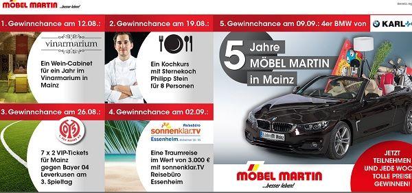 Möbel Martin Gewinnspiel 4er BMW 2017
