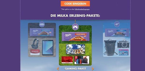 Milka gewinnspiel großtafel