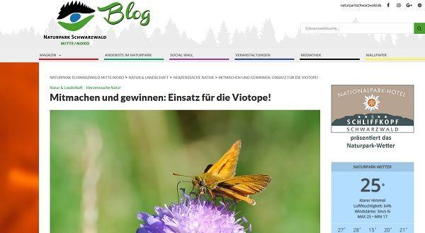 Naturpark Schwarzwald Gewinnspiel Viotope