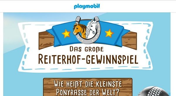 Playmobil Gewinnspiel Reiterhof Reise 2017