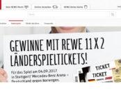Rewe Gewinnspiel Tickets Länderspiel Norwegen Deutschland 2017