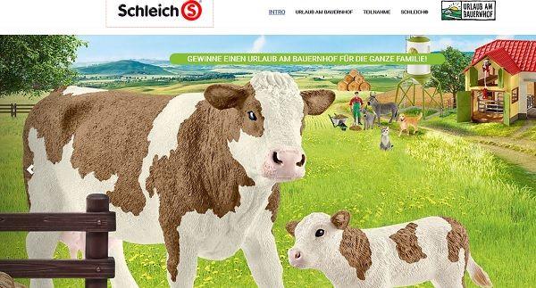 Schleich Gewinnspiel Urlaub Bauernhof 2017