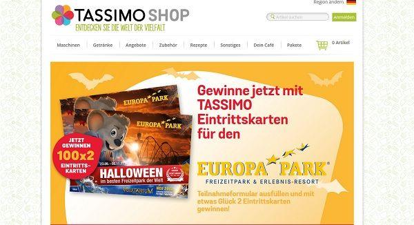 Tassimo Gewinnspiel Europa Park 2017