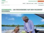 Vorwerk Twercs Gewinnspiel Hausboot Urlaub 2017