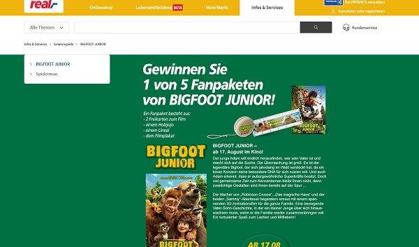 real Gewinnspiel Bigfoot Junior 2017