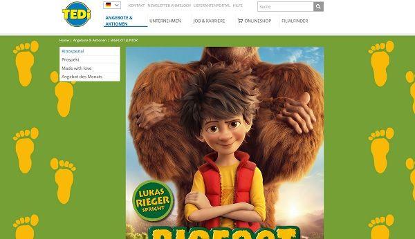 tedi Gewinnspiel Bigfoot Familienurlaub 2017