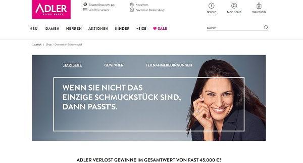 Adler Mode Gewinnspiel Diamant Ringe 2017