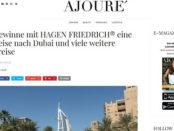 Ajoure Dubai Reise Gewinnspiel 2017