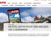 Alpin Magazin Gewinnspiel Appe iPad air2