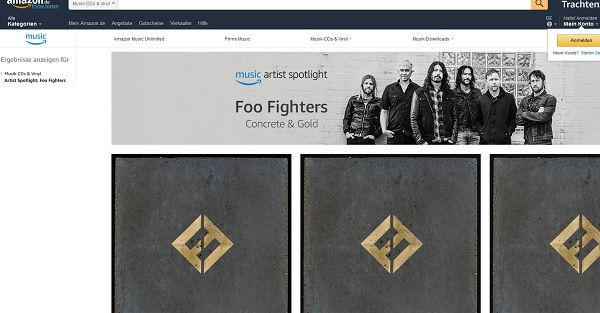 Amazon Foo Fightes Gewinnspiel Reise Konzert 2017