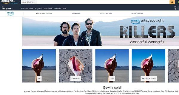 Amazon Gewinnspiel The Killers Konzert Meet and Greet