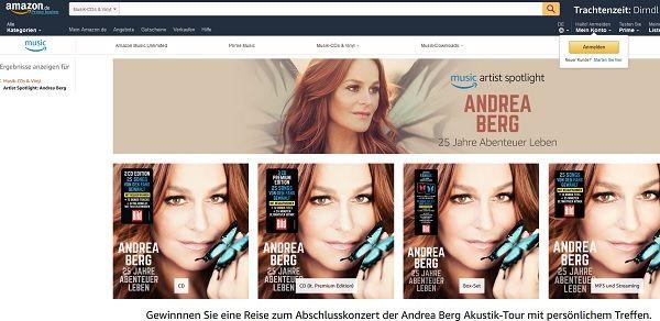 Amazon Gewinspiel Andrea Berg Meet&Greet 2017