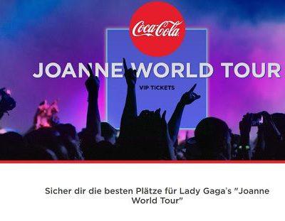 Coca Cola Gewinnspiel Lady Gaga World Tour Reise 2017