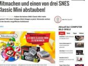Computer Bild Gewinnspiel Nintendo SNES Classic Mini 2017