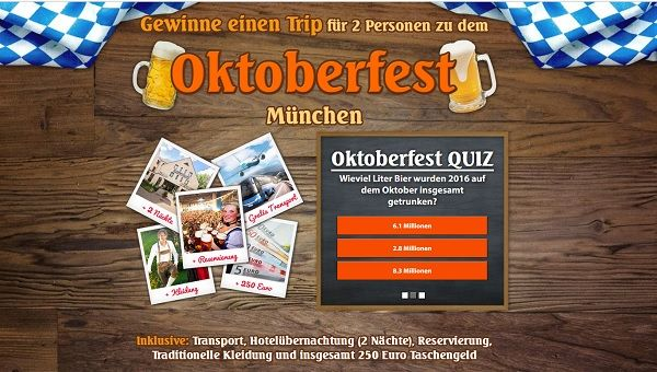 Coupon Jäger Oktoberfest Reise Gewinnspiel