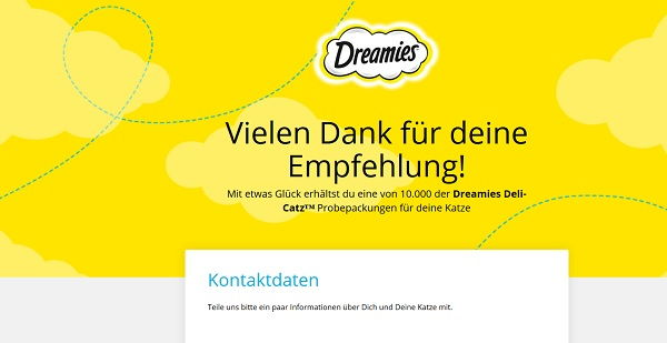 Dreamies Katzensnacks Gewinnspiel 2017