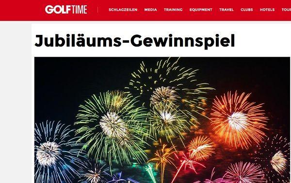 Golf Time Magazin Jubiläums Gewinnspiel 2017