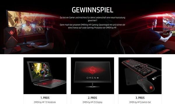 HP Notebook Gewinnspiel Gamer Laptop 2017