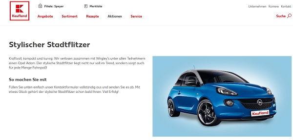 Kaufland Gewinnspiel Opel Adam 2017
