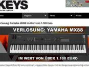 Keys Magazin Gewinnspiel Yamaha MX88 Keyboard