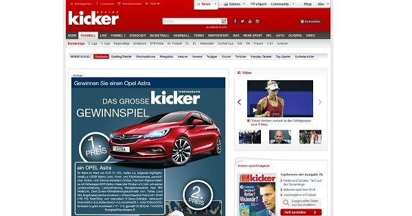 Kicker Gewinnspiel Opel Astra 2017