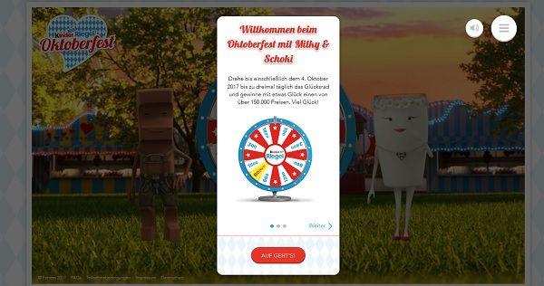 Kinder Riegel Oktoberfest Gewinnspiel 2017 Glücksrad