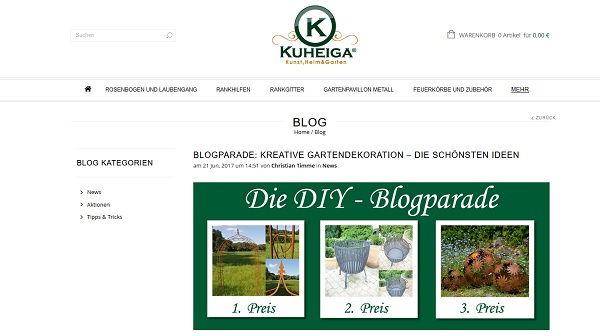 Kuheiga Blogparade Gewinnspiel 2017