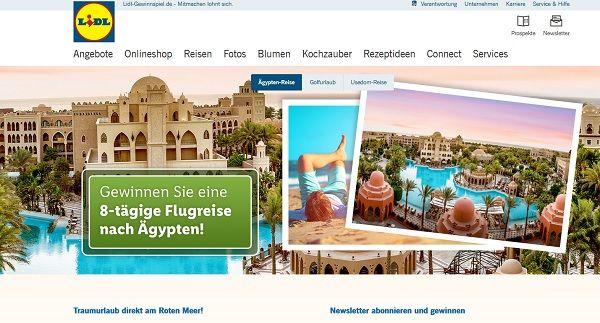 LIDL Gewinnspiel Ägypten Reise 2017