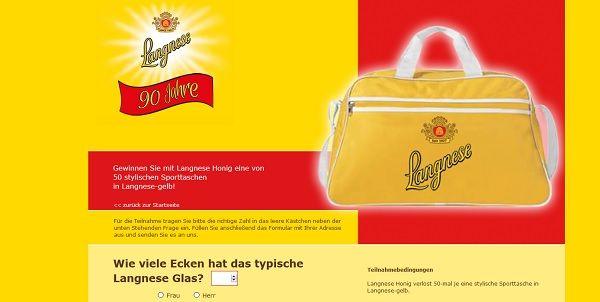 Langnese Honig Gewinnspiel 2017 Taschen