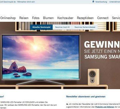 Lidl Gewinnspiel Samsung Smart TV 2017