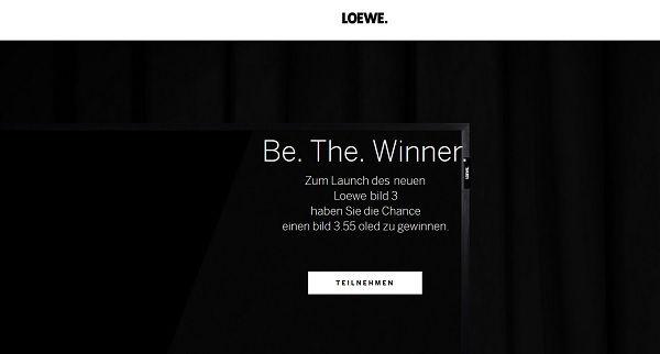 Loewe Gewinnspiel 55 Zoll oled TV Gerät